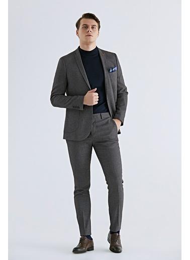 TWN Slim Fit Düz Takım Elbise Bordo